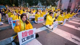 Vigil Outside Chinese Consulate Shines Light on Deadly Persecution