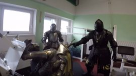 These knights won't fight – but they will besiege the nearest gym