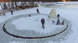 This is how the Finnish build a winter carousel. Quite cold but incredibly funny!