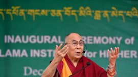 "Dalai Lama says there are ""too many"" refugees in Europe"