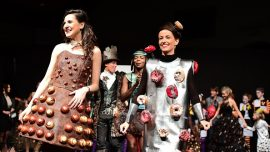 Dresses Adorned in Chocolate for Brussels' Chocolate Fair