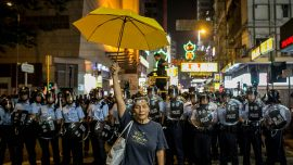 Hong Kong democracy activists in court on nuisance and incitement charges