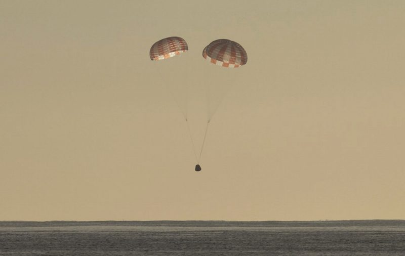 Space X capsule returns to Earth with science samples