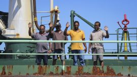 Hijacked ship released by Somali pirates, at safe port