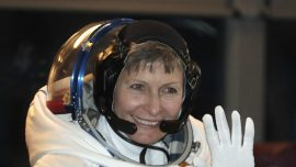 Oldest female astronaut sets spacewalk record