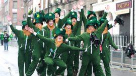 Irish mythical creatures dance through Dublin's streets for St. Patrick's Day