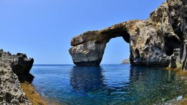 Iconic Azure Window rock arch in Malta collapses