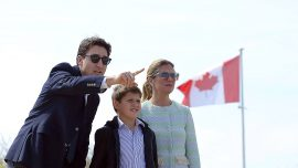 Canadian Prime Minister Trudeau visits D-Day beach