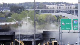 Charges arrive for man connected with Atlanta overpass collapse