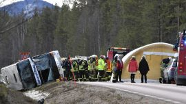 Three killed after bus carrying schoolchildren crashes in Sweden