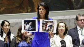 Trump will act on Syria if UN doesn't, Haley claims
