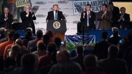 Trump gives speech in D.C. on strengthening the U.S. construction landscape