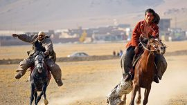 Afghanistan horsemen gather for a game that outlasts political strife