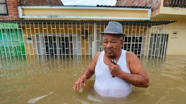 Widespread flooding in Jamaica after heavy rain