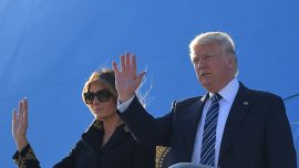 President Trump lands in Italy