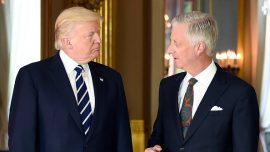 President Trump meets Belgian royals and prime minister