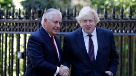 Tillerson and Johnson pledge commitment to information-sharing and combating terrorism