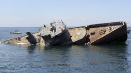 'Perfect Storm' ship sunk to become artificial reef