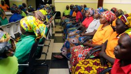 Freed Nigerian schoolgirls still waiting to see their families