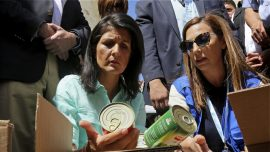UN Ambassador Haley wants some Syria aid to go to nations hosting refugees