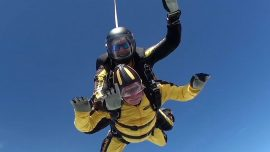 D-Day veteran sets record for world's oldest skydiver
