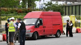 London police blow up van, car outside new US Embassy