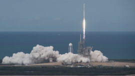 SpaceX launches first recycled cargo ship