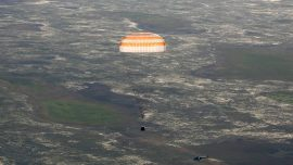 Two astronauts return to Earth from ISS