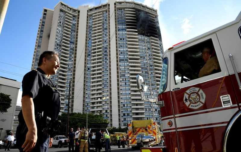 Honolulu tower blaze kills three, including mother and son