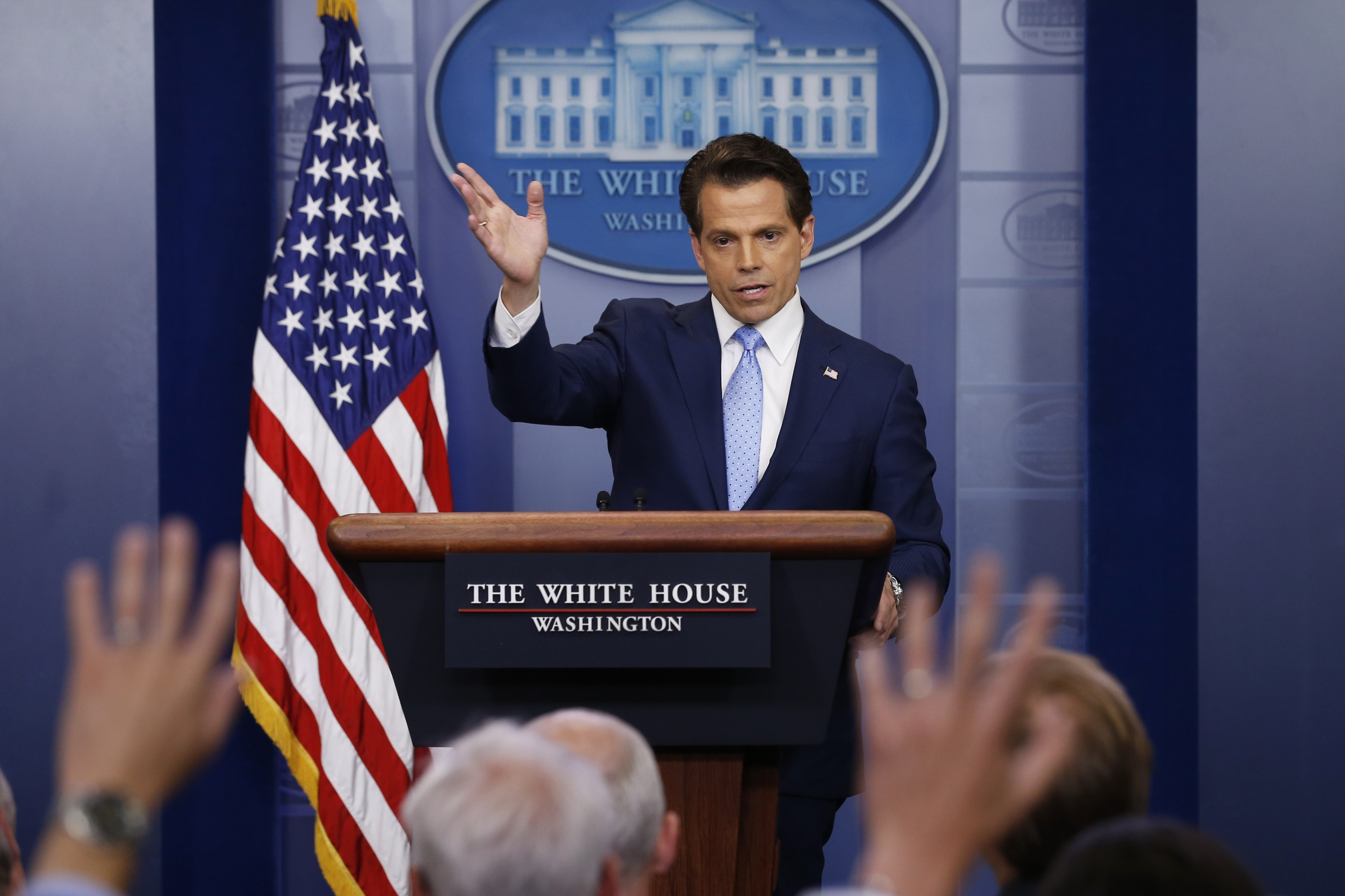 New White House Communications Director Anthony Scaramucci takes questions at the daily briefing at the White House in Washington, U.S., July 21, 2017. (REUTERS/Jonathan Ernst)