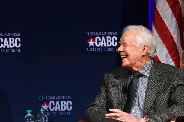 Former United States President Jimmy Carter speaks at 'The Board of Directors of the Canadian American Business Council