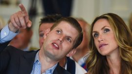 Eric Trump shows support for Donald Trump Jr. after Russia emails