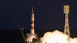 Space Station back at full capacity with arrival of three-man crew