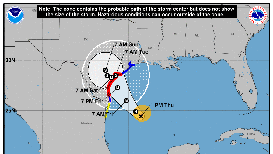 Texas on Alert as Harvey Looks to Intensify from Storm to Hurricane