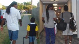 Young Man's Now-And-Then Photo With Dad Leaves People in Tears