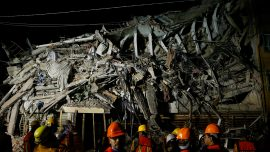 Desperate Night Search in Mexico School, Other Ruins as Quake Killed More Than 200