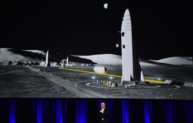Elon Musk told the 68th International Astronautical Congress 2017 in Adelaide on Sept. 29, 2017, that his company SpaceX has begun serious work on the BFR Rocket as he plans an Interplanetary Transport System. (Peter Parks/AFP/Getty Images)