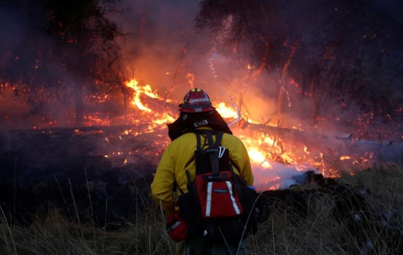 California 'Horror' Fires Burn on, 40 Dead in One Week