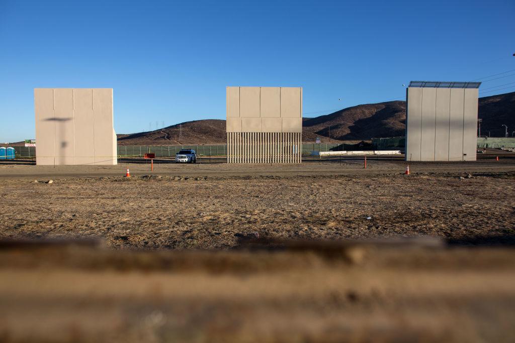 Prototypes border wall