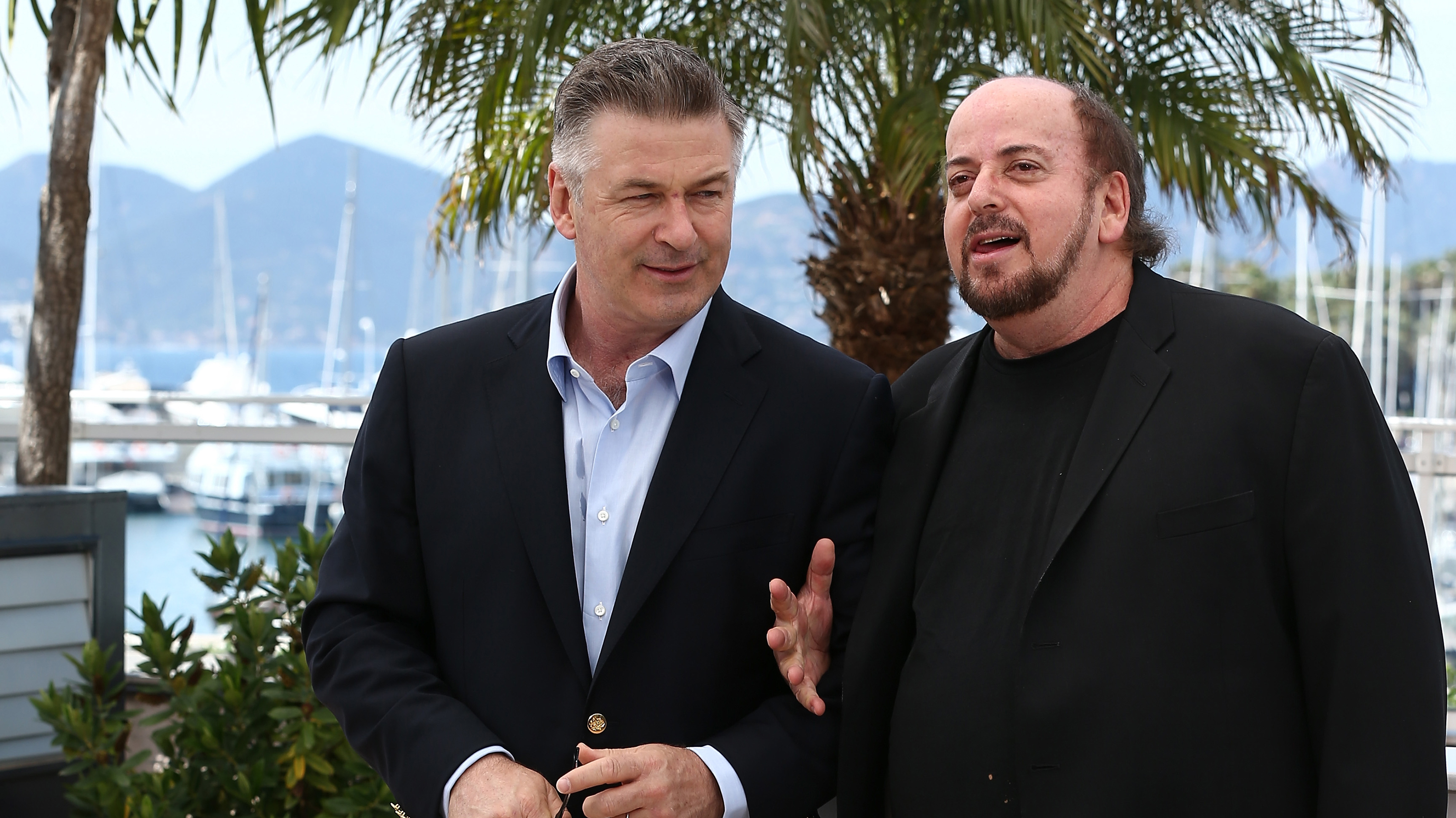 Actor Alec Baldwin (L) and director James Toback attend the 'Seduced And Abandoned' photocall during The 66th Annual Cannes Film Festival on May 21, 2013 in Cannes, France. (Andreas Rentz/Getty Images)