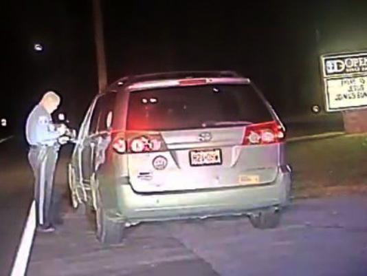 (Screen shot—Officer's Marotto's dash-cam)