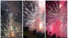 Fireworks Display Goes Horribly Wrong: 'That Supposed to Happen?'