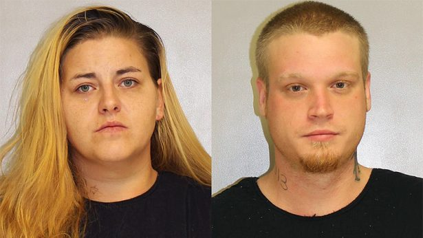 Tosha Mae Daley (L) and Nicholas Vonallen Shinn have been charged with murdering Daley's step-mother, Jamie-Ruth Daley. (Franklin County Jail)