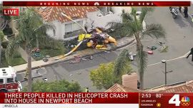 3 Dead, 2 Injured As Helicopter Crashes Into California Home