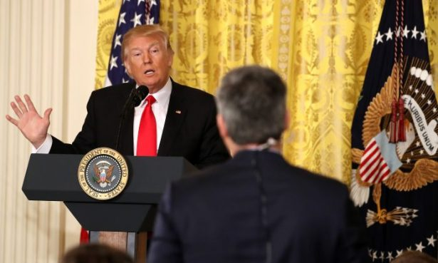 President Trump and Jim Acosta