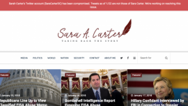 Twitter Account of Prominent National Security Reporter Sara Carter Hacked