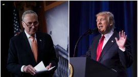 Trump and Schumer Trade Barbs Over Wall