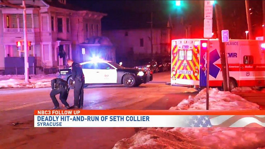 Seth Collier was walking home from work when Peter Rauch ran him down. Ted Ackerman parked a block away and didn't even come back t see if Collier was alive. (NBC3 screenshot)