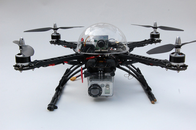 Some drones can carry more than one camera. (Flickr)