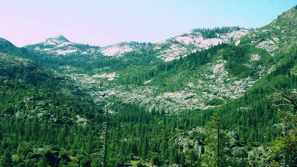 The 19,048 acre Granite Chief Wilderness area within Tahoe National Forest. (en.wikipedia.org)